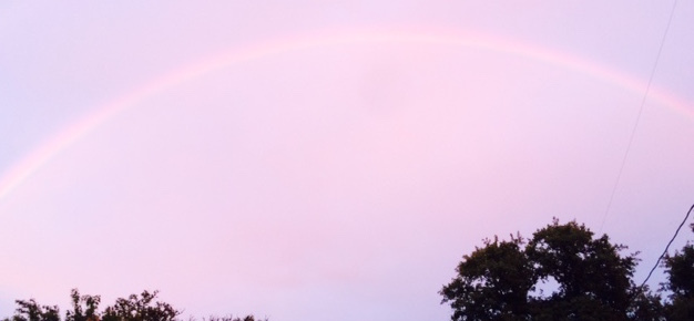 Rain, rainbows and sunsets in Bouldin