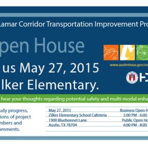 South Lamar Corridor Transportation Improvement Program -  Open House